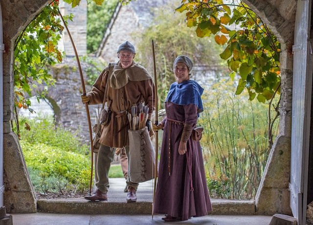 Medieval villagers get ready for archery_Grant Wyness.jpg