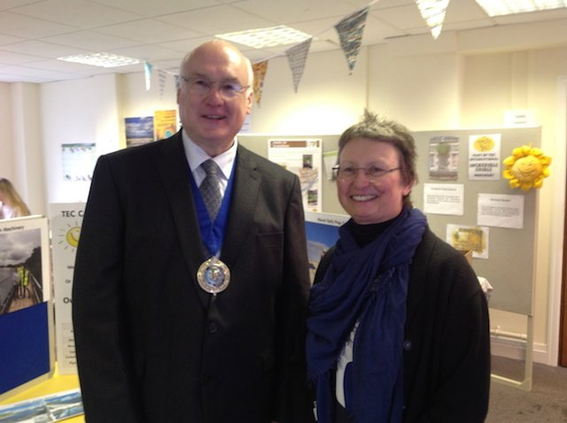 Cllr John Sheldon Mayor of West Devon & Kate Royston