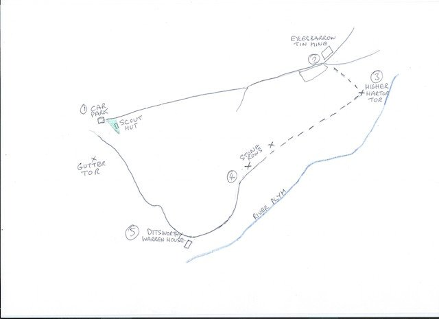 Walks with Angus and Sennen - Map for Gutter Tor Walk.jpg