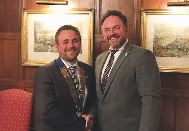 Phil Timings new chairman and Neal Taynton-Young out going chairman PR M.jpg