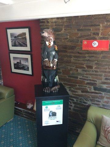 Potter Otter in situ at the Moorland Garden Hotel.JPG
