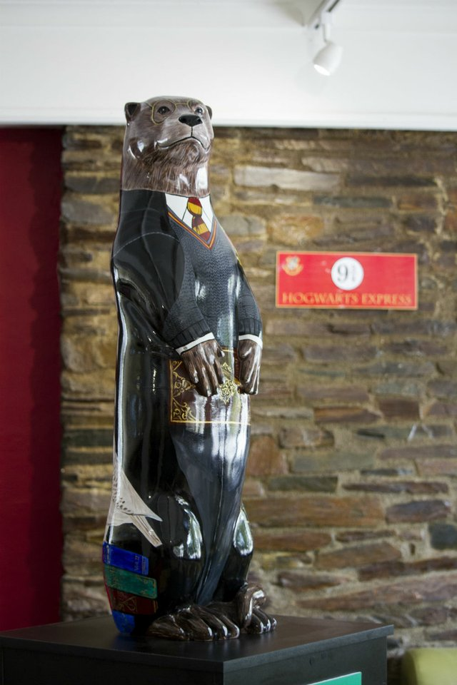 'Potter Otter' by Rachel Shilston draws inspiration from his famous wizard namesake.jpg
