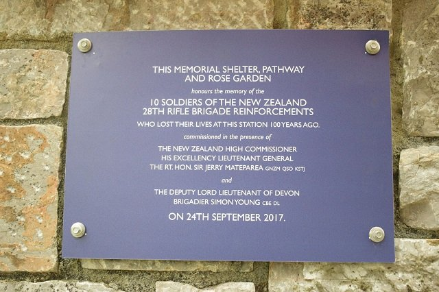 Centenary memorial for New Zealand soldiers