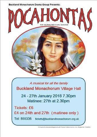 Buckland Monachorum Drama Group presents 'Pocahontas'