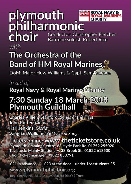 Plymouth Philharmonic Choir with the Orchestra of the Band of HM Royal Marines
