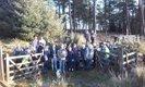Burrator volunteers on xmas tree walk