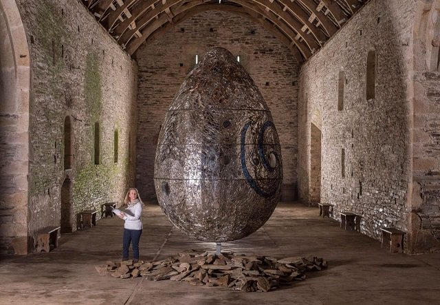 Andrew Logan's Cosmic Egg at Buckland Abbey