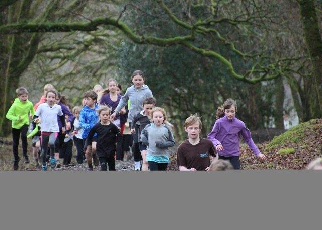 Meavy pupils run around 'Britain'