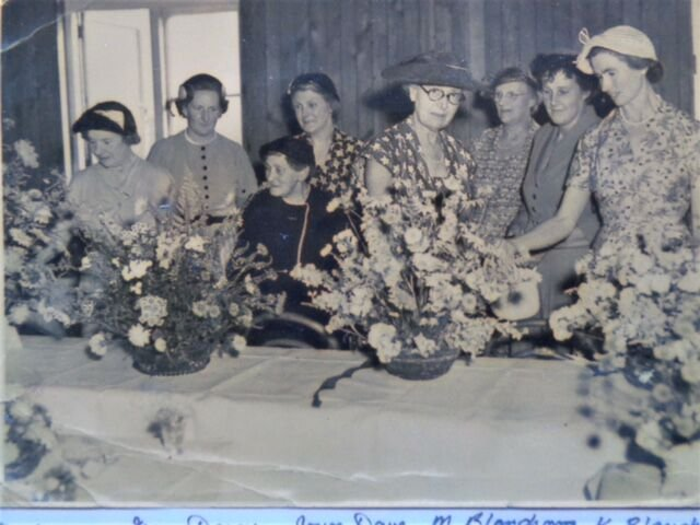 Milton Abbot W.I. flower show 1940s or 50s