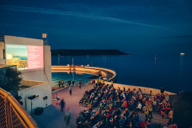 Watch films under the stars at Plymouth Arts Centre¹s unique Open Air Cinema by the sea