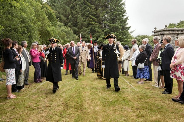 The procession leading to the leat
