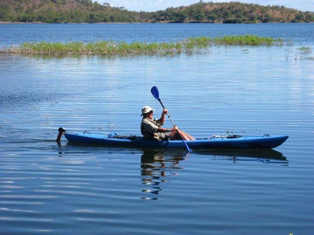 Kayaking on Lake Kariba