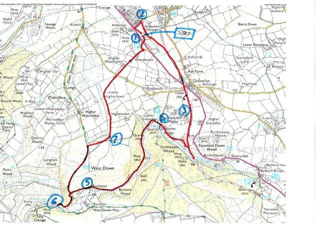 Walkham Valley Map