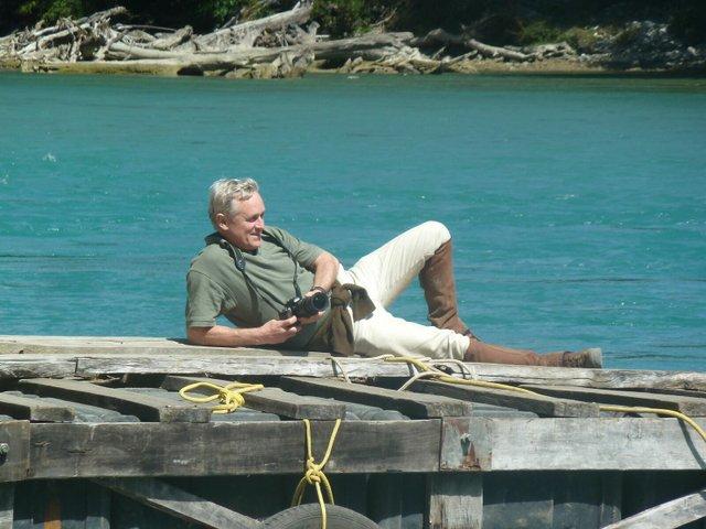 Mark Davison hard at work in Patagonia 2017