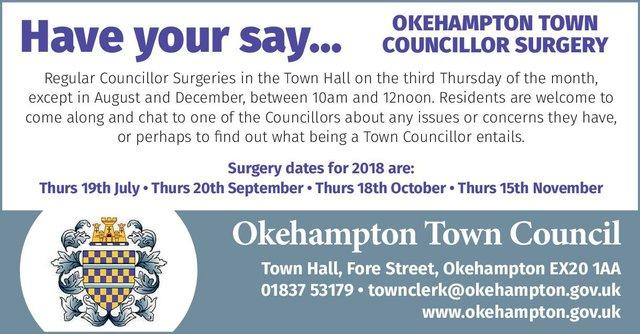 Okehampton Town Councillor Surgery