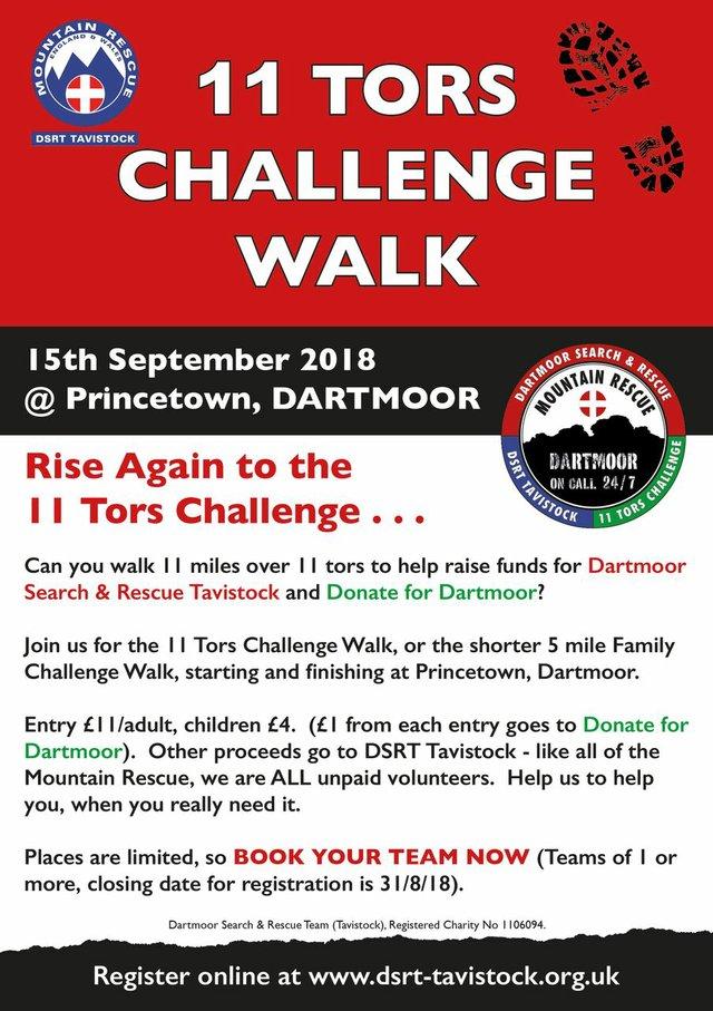 DSRT Tavistock 11 Tors Challenge Walk