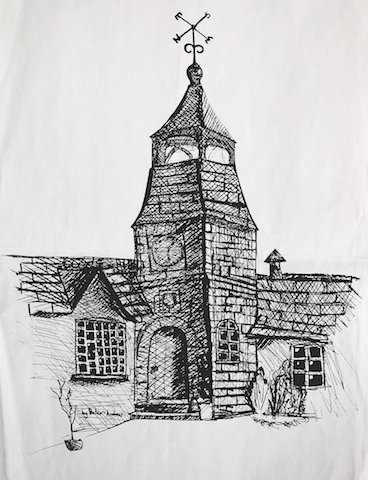 Lady Modifords School Walkhampton drawn by Peter Andrew.jpg