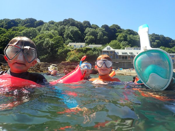 NMA's 'Ocean Squad' snorkelling out at sea