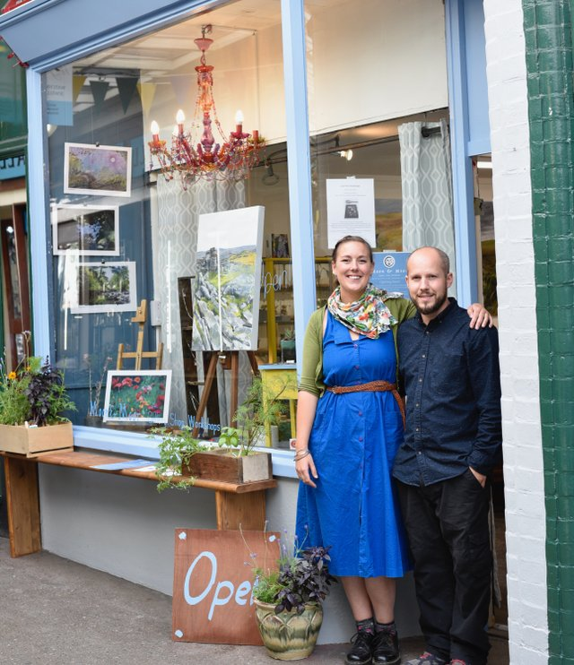 Corrinne & Olly Outside Moon & Moor 9th August 2019.jpg