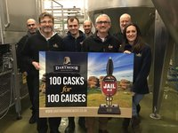 Dartmoor Brewery MD Ian Cobham (third from right) launching the new community initiative with members of the Brewery team