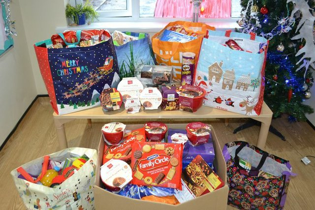 Bumblebees Day Nursery held a collection for Plymouth Feed a Family