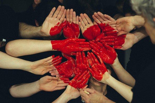 Hand heart art