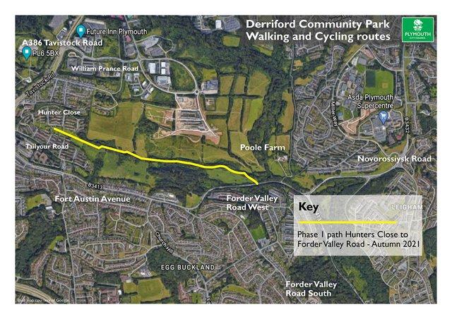 Derriford Community Park - Satellite Map