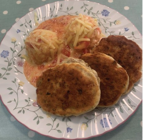 Corned beef fritters with lobscouse