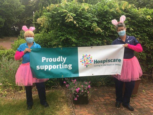 Hospiscare nurses Mandy Densham (L) and Julie Wakley (R) ready for this year's Twilight Walk