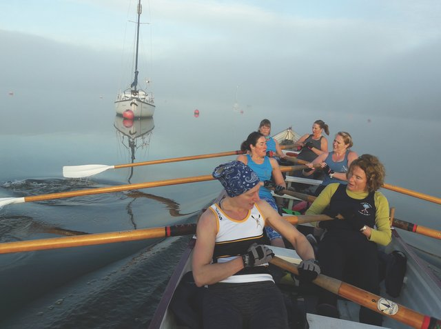 After a year without rowing, members were eager to get back out on the water