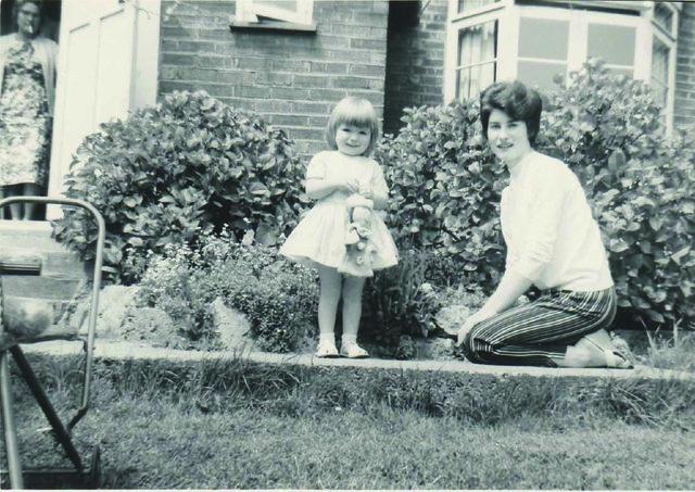 Sue Wonnacott with her mum in 1963