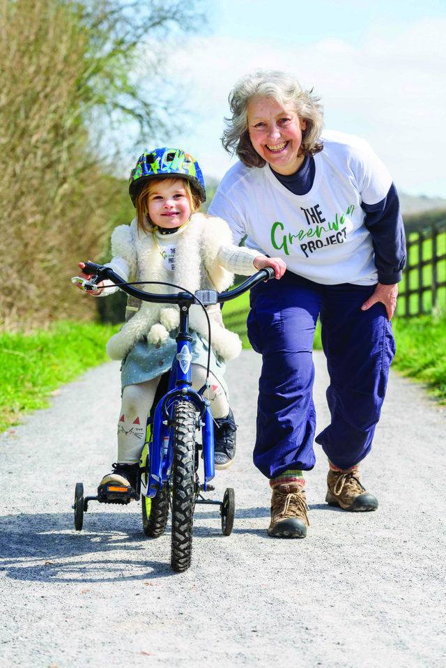 Big Peaks in Ashburton generously gave away a child's bike to support The Greenway Project, which was won by Jo Diffey and enjoyed by her granddaughter, Artemis.