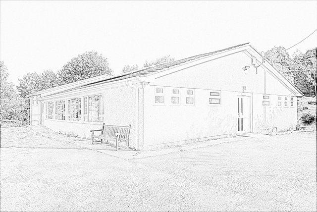 Sketch of Shaugh Hall