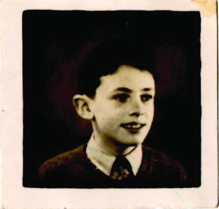 Colin May as a child