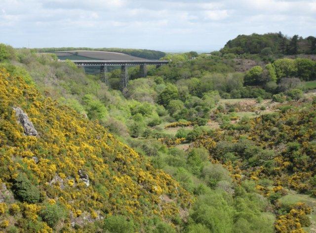 Distant views of the impressive iron lattice viaduct, built in 1874