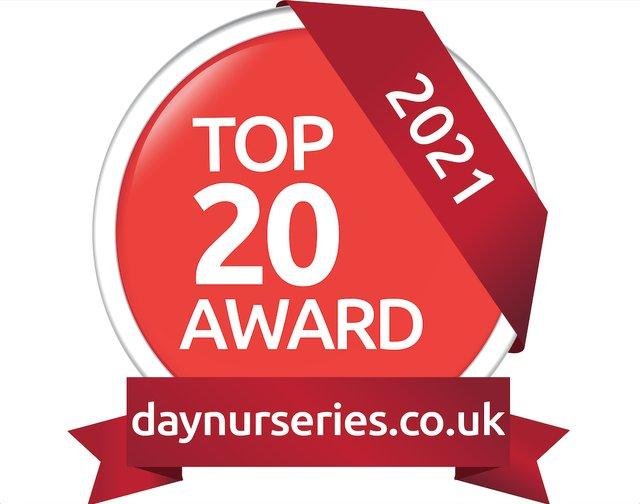 Day Nurseries Top 20 Award logo