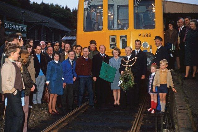 Okehampton's last train back in June 1972