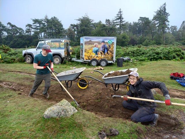 Volunteers learning new skills on Dartmoor