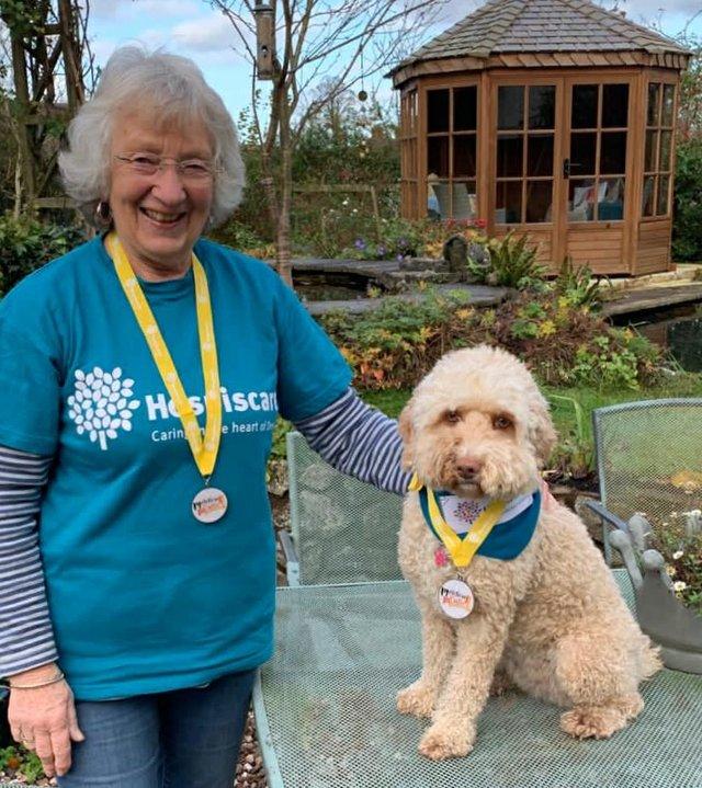 Mavis and her dog, Jess