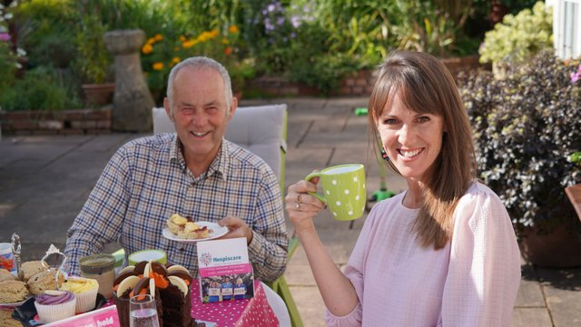 Mid Devon – Roger Oliver in his garden at White Cottage in Crediton with his daughter Ali McGeown